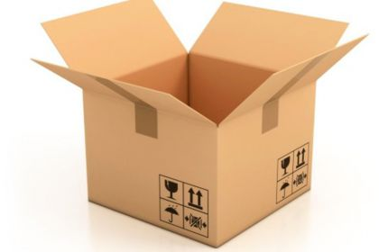 Production of cardboard packaging